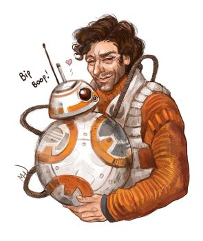 Poe and BB8 by MadHatters-Wife