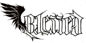 Blessed ambigram variation by Nehemya