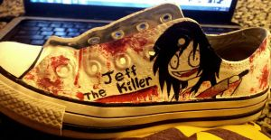 Jeff the Killer shoe by Grim-Consequence
