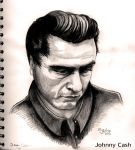Johnny Cash by CyanBlutgeissel