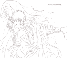 Ichigo with DEATH LineArt by HollowCN