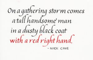 Nick Cave - Red Right Hand by MShades