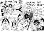 SketchTime #1 (Smoking' Sick black Pencil Style) by Ryan5Gediche