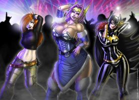 Heroines in da Club by CerberusLives