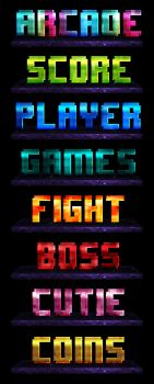 Arcade Photoshop Layer Styles by xstortionist