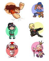 Wreck-it Ralph Stickers by BatLover800