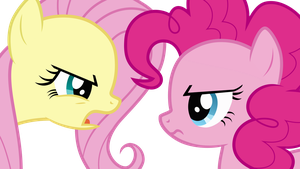 Fluttershy and Pinkie Pie Arguing by Uponia