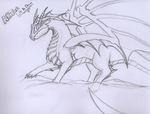 ARTist Talk And Draw - Dragon - Sketch by ArdonSword
