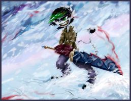 Blood on the snow by FreakyKitty
