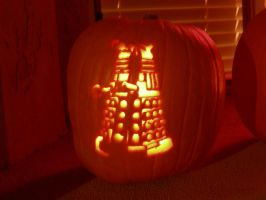 Dalek Pumpkin by Kat-the-Shanster