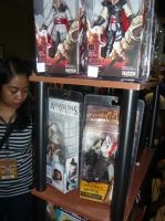 Assassin's Creed and God of War figures by thereanimatedunknown