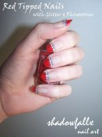 Red Tipped Nails by shadowfallx