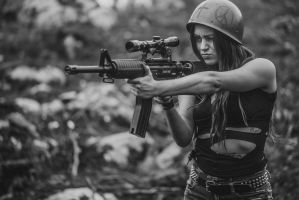 Girl with guns! by hmcindie