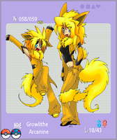 058-Growlithe and 059-Arcanine by PachirisuLuva