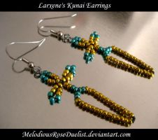 Larxene Kunai Knife Earrings by MelodiousRoseDuelist