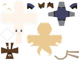 Papercraft pattern - Alaska by porcelian-doll