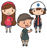 Gravity Falls stickers! by ForeverMuffin