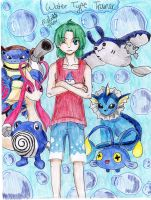 Water-type Pokemon Trainer by MitsukiChan313