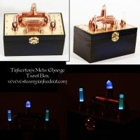Tinkerton's Blue Meta-Charge Tarot Box by Steampunked-Out