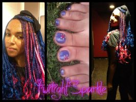 Twilight Sparkle braids and toes by AkwardFairy