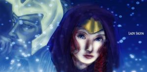Sigyn and King Loki banner by liaartemisa