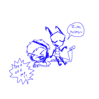 Free Sketch 4 - Zim Sitting on Pewdiepie by DibFan4LifeX3