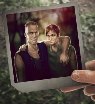 The walking dead - Dixon Brothers commission by maXKennedy