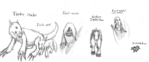 Nations of Ruhgaia: Scathen Wildlife by IrateResearchers