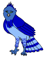 Blue Harpy Eagle by CherrySapphire