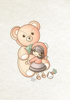 Annabelle and big bear by sweetterara