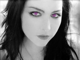 Amy Lee-Piercing Purple Eyes by kahlan-amnell-13