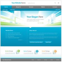 Company website interface by drouch