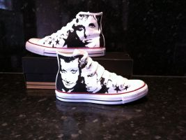 Green Day Converse Chucks by VeryBadThing