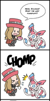 Pokemon: Psychotic Sylveon - PokePuffs by LuLuLunaBuna