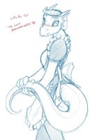 Sketchithon 12 - The Lusty Argonian Maid by Twokinds