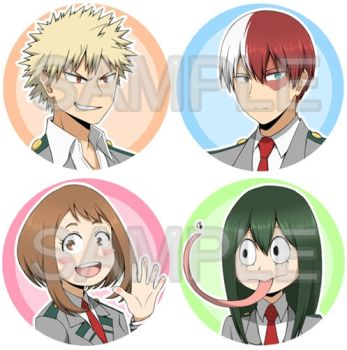 My Hero Academia badges for sale by Azulnieve-pro