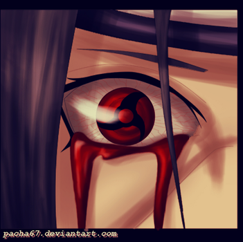 Itachi's eyes by One67