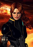Commander Kelly Chambers by GothicGamerXIV