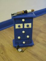 Custom Doctor Who TARDIS jewelry drawers by Will1885