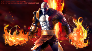 Kratos God of War Speed Painting by BonnyJohn