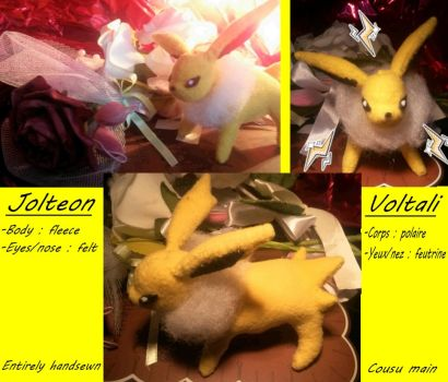 Jolteon plushie ! by MiniRockeuse