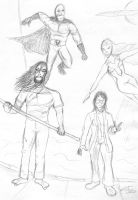 Xavier and co. sketch (update 2014) by FG-Arcadia