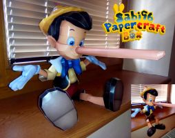 Pinocchio (Sitting) Papercraft by Sabi996