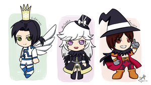 MegaTen Tomodachi Chibis by WarriorOfPurgatory