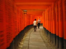 Torii Tunnel by chaimonkey