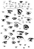 Anime Eyes by M0M0-San