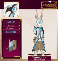(WIP) RO Application - Timmothy (Cleric) by SnownightTheCat