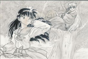 Kagome And Inuyasha by karentje123