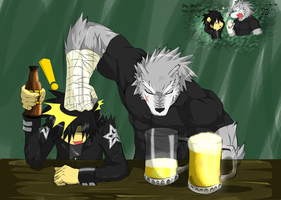 No Beer under 18 :D by WarGreymon43