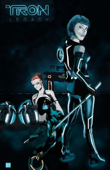TRON LEGACY movie poster by CRUX56